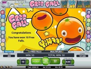 fruitcase-free fall
