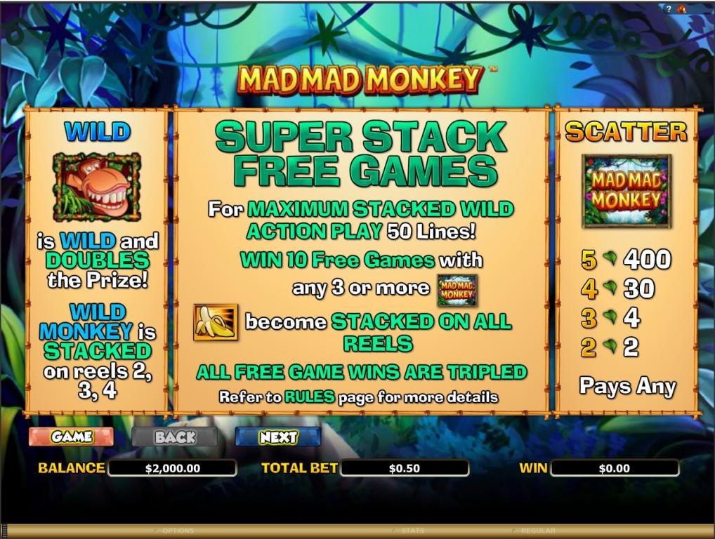 mad mad monkey bonus